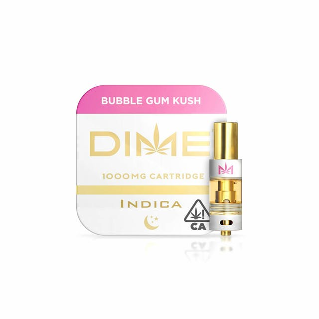 DIME 1000mg Cartridge – Bubble Gum Kush