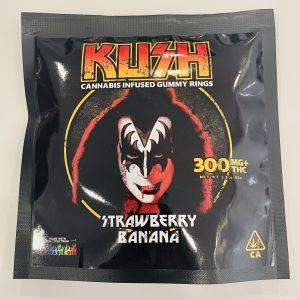 KISS – Strawberry Banana Gummy Rings 300mg