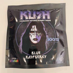 KISS – Blue Raspberry Gummy Rings 300mg